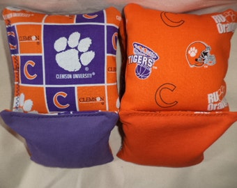 Cornhole Bags Clemson Tigers Corn hole Bean bags 8 ACA regulation tailgate bean bags