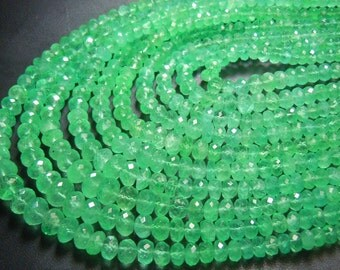 Emerald Rondelle Faceted Beads AAA Quality Full Transperent Beauty Full Green 18''  Colambian  Size  3 to 5MM Approx Wholesale  Price