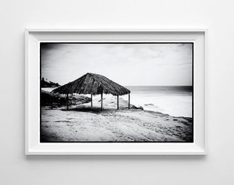 La Jolla Beach Home Decor - San Diego Windansea Black and White Photography, California Surf Art - Small and Large Wall Art Prints Available