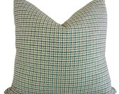 Green Pillows - Houndstooth Pillows - Martins Houndstooth - Blue Pillows - Decorative Pillows - Lumbar Pillows - Square Pillows - Home Decor