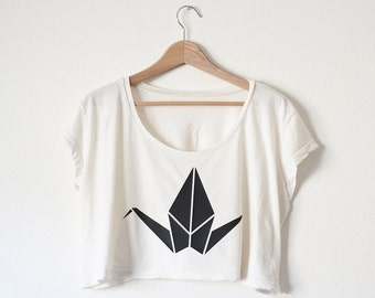 Origami Crop Top - Choose Animal and Color - Made in USA by So Effing Cute