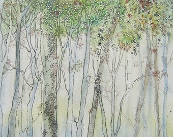 Summer Trees Print giclee From an Original Painting