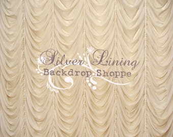 Extra LARGE 9ft x 8ft Photography Backdrop / SWANKY CREAM Curtain / Matte Vinyl