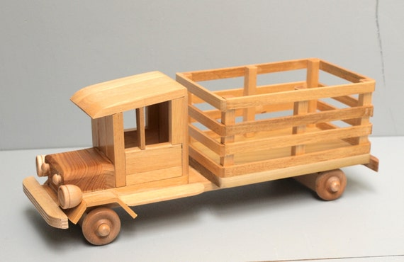 WOOD FARM Truck Eco-friendly Wooden Toy Car for Kids Organic Natural ...