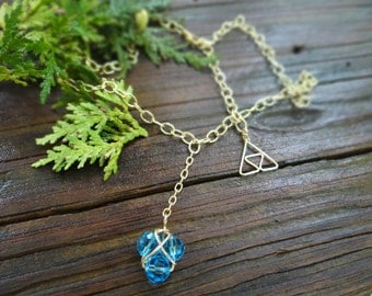 Magical Zora's Sapphire Twist Necklace