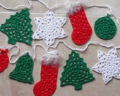 Christmas Bunting - Granny Style - PDF Crochet pattern