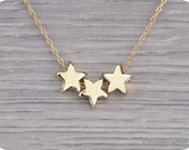 Gold Filled  Star Necklace 'Reach for the stars'