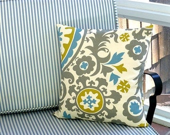 Choose Your Cushion Cover, Decorative Pillow Cover Cushions - Suzani Summerland Pillow Cover - 18 x 18 Accent Cushion