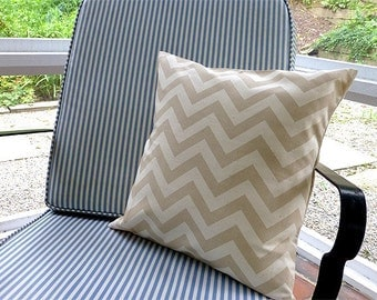 Choose your Cushion Cover, Decorative Pillow Cover Cushions, Chevron Khaki Pillow Cover, 18 x 18 Accent Cushion