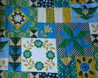 Faux Patchwork Fabric Remnant
