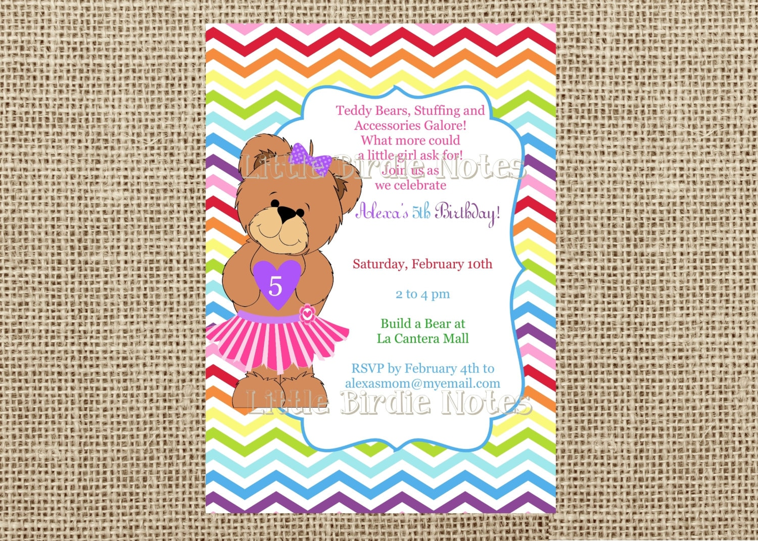 Build Bear Party Invitations And Thank You