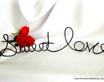 Sweet Love Candy Station Sign For Weddings & Bridal Showers