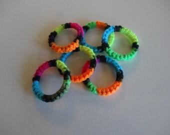 Crochet Ring Cat Toys- BLACKLIGHT Set of 6