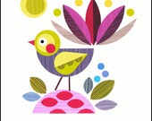 Piwakakwaka, bird, print