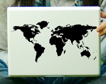 World Map Laptop Decal iPad