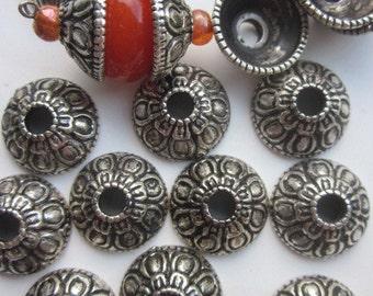 Antique Silver Bead  Caps