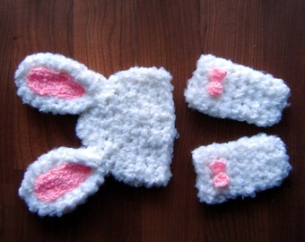 Bunny Set - Beanie and Leggings Baby Photography Prop