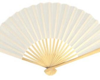 Silk Wedding Favor Fan with Organza Favor Bag