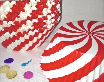 Big Top Baking Cups Candy Cane Swirl Cupcake Cups