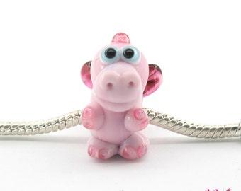 Glass lampwork dragon bead bracelet / BHB bead