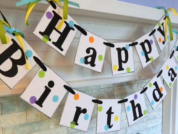 1st Birthday Banner  gender neutral Birthday Decorations  ~ 212735_Birthday Party Ideas Unisex