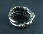 Crow Claw Ring - White Bronze Bird Claw Ring - Talon Ring
