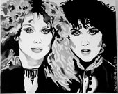 Heart Original Oil Painting - Ann and Nancy Wilson - Barracuda - Magic Man - Crazy On You - Dreamboat Annie