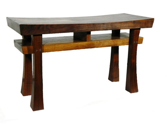 Asian style bench size large made to order maple by