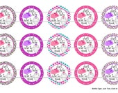 """15 Just TuTu Cute To Spook Digital Download for 1"""" Bottle Caps (4x6)"""