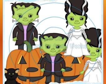 The Frankensteins Clipart (Digital Download)