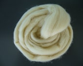 Wool top roving, 8.8oz, wool, wool roving, Waldorf doll stuffing, carded wool,wool stuffing,toy filling,felting, spinning, cream, ecru, 250g