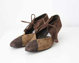 Vintage Brown Ziegfeld Shoes / Tassel Shoes