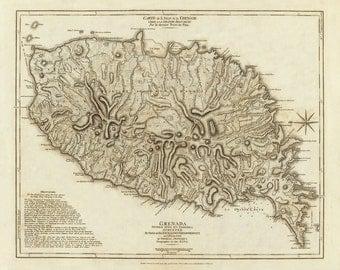 1775 Map of Grenada