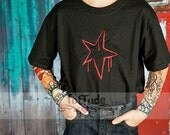 Tattoo Sleeve Graffiti Star Embroidered Shirt for Boys or Girls