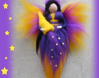 Sweet Dream bringer fairy, needle felted