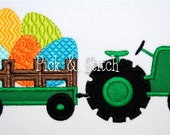 Easter Egg Tractor Applique Design Machine Embroidery INSTANT DOWNLOAD