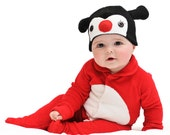 ON SALE: Size 6-12m Ladybird / Ladybug / Lady Beetle Baby Halloween Costume with Hat - Lil' Creatures