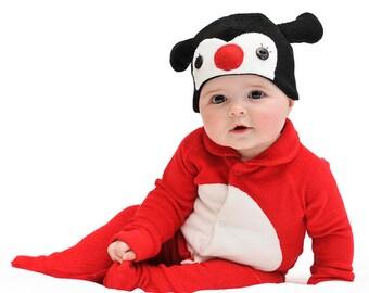 ON SALE: Size 6-12m Ladybird / Ladybug / Lady Beetle Baby Halloween Costume with Hat - Lil' Creatures