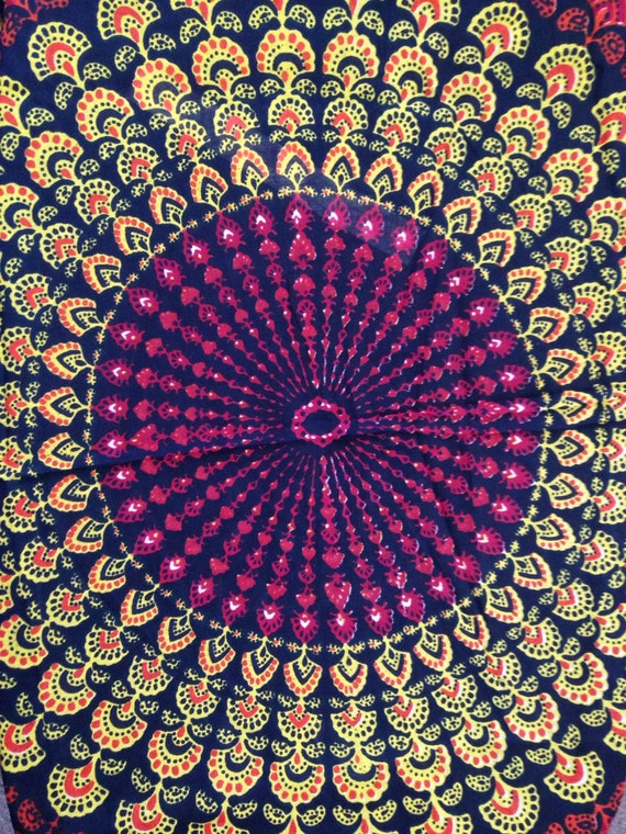 Hand Block Printed Indian Fabric Fall Hippie Tapestry