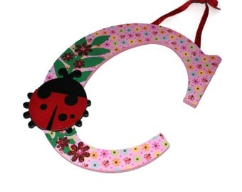 """CLEARANCE - Letter """"C"""" wall hanging or hair bow holder"""