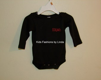 Personalized Black Bodysuit with Bowling Pins/Ball