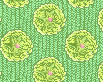 11005  Amy Butler Soul Blossoms collection - Delhi Blooms in Grass color - 1 yard