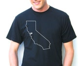 Mens Oakland Tshirt - California Oakland East Bay Love - American Apparel 50/50 blend - xs, small, medium, large, extra large, 2xl