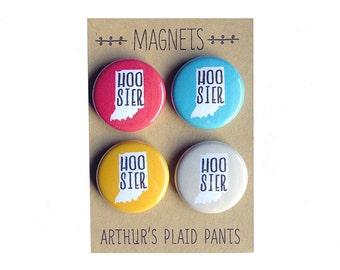 Hoosier magnet, Hoosier magnet set, Proud Hoosier, Indiana Hoosier, Indiana University magnet
