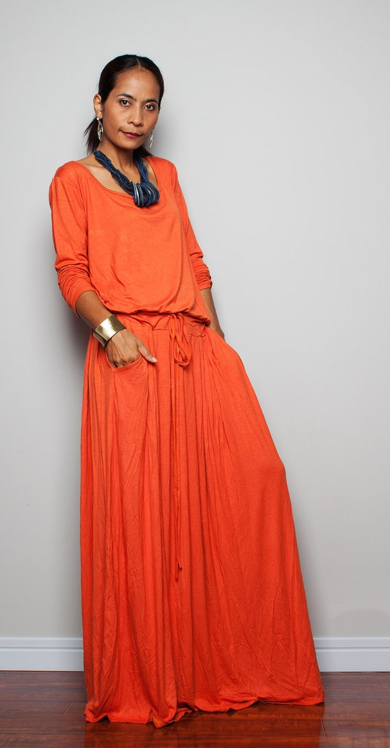 Kimono Sleeve Plus Size Dress Plus Size Maxi Dress Brick