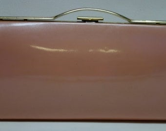 60s Powder Pink Patent Clutch MOD