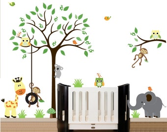 Gender neutral wall decal, wall decal unisex, gender neutral room decor, wall  decal kids, kids tree decal, tree nursery decal, tree decal