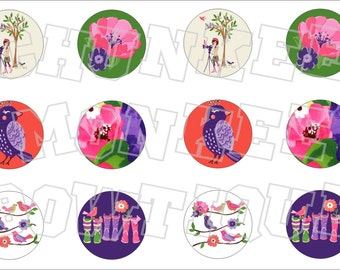 Made to Match Gymboree M2MG Falling for Feathers bottlecap image sheet