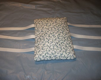 Armrest Cushions--Fit most chairs--arm rest ArmCushies--Fit IKEA Poang chair--Small blue and green flower print on white--1 Pair