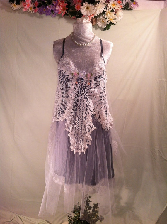 Sale Upcycled Wedding Dress / Bohemian Dress / By Intrigues
